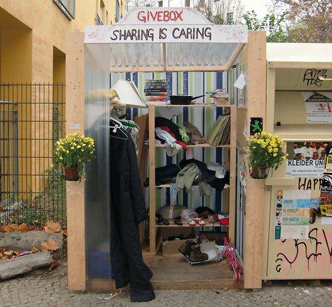 """""""Givebox"""" : kioskos para compartir lo que ya no usas"""