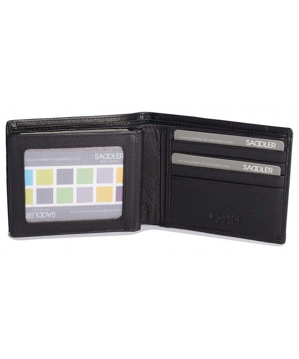 47dd5f5abe Soft Nappa Leather 2 Section 12 Credit Card Billfold with Centre ID ...