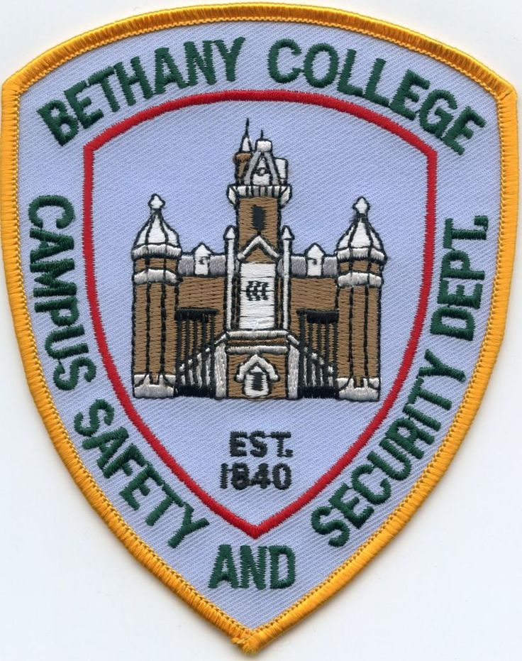 BETHANY COLLEGE WEST VIRGINIA WV CAMPUS SAFETY AND SECURITY POLICE PATCH   Collectibles, Historical Memorabilia, Police   eBay!