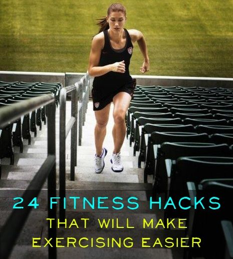 24 Fitness Hacks That Will Make ExercisingEasier My favourite: Before checking your email or heading to the kitchen for a snack, force yourself to do some sit-ups and push-ups. please follow me @ http://www.pinterest.com/jeniferkane01/