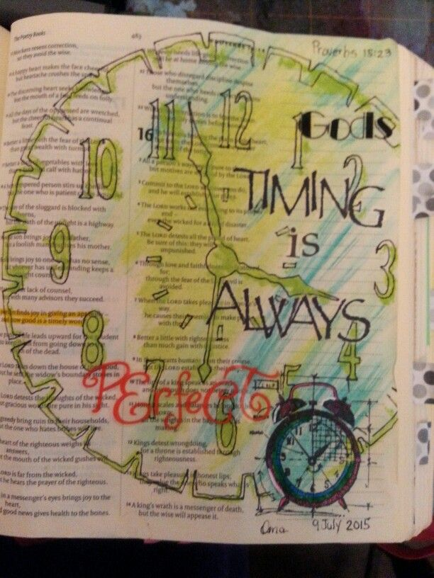 His timing is always perfect - Bible Journaling.