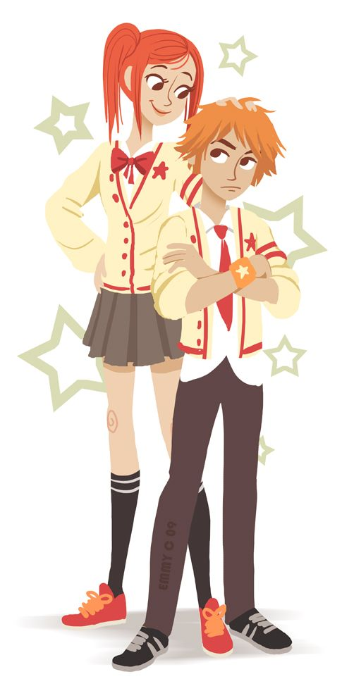 Lovely Complex by ~B1nd1  I pretty much love this series. Risa and Otani! weeee!(Lovely Complex)