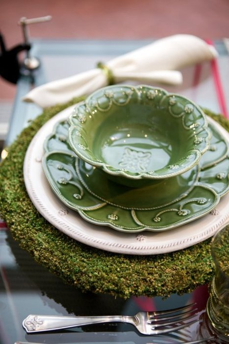 Love these green dishes