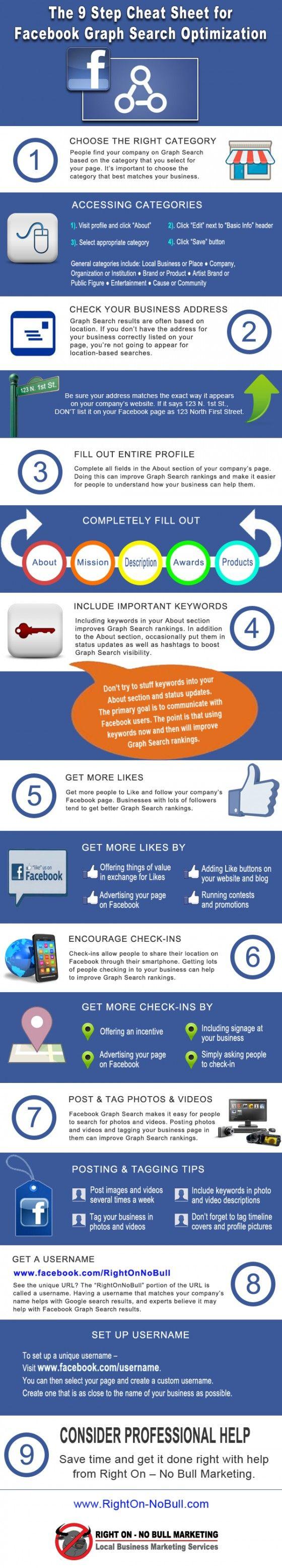 9 Conseils pour Optimiser votre Page #Facebook pour le Graph Search #infographie