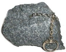 How to make a fake rock keychain using foam rubber & spray paint.