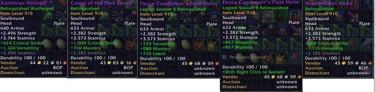 [warriors/prot] Do you feel these stats are acceptable? 3250 Veiled Argunite for 5x useless Helms. #worldofwarcraft #blizzard #Hearthstone #wow #Warcraft #BlizzardCS #gaming