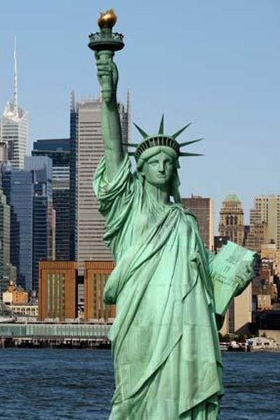 Whether you ogle it from Battery Park or while onboard the Staten Island Ferry, you must gaze upon the Statue of Liberty.