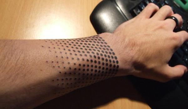 Black Band around Forearm Tattoo | half tone tattoo 35 Beautiful Tattoos You Should Check Right Away