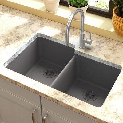Elkay Quartz Classic 33 L X 21 W Double Basin Undermount Kitchen