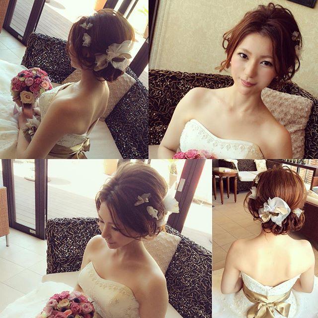 . . 本日7/25に、最高に美しい花嫁のれいなさん . @reina.masuno れいなさんの、まずはウェデイングスタイル!…
