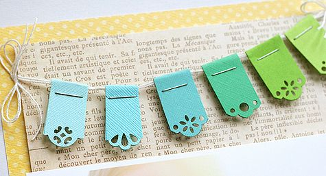 scrapbook pages-paper punched banners. so cute!