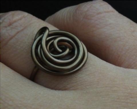 Infinity: Antique Bronze Wire Wrapped Ring @ www.baitbykiya.com