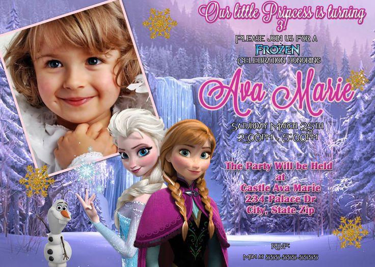 161 best invitations on ebay images on pinterest birthday disneys frozen birthday party invitation filmwisefo