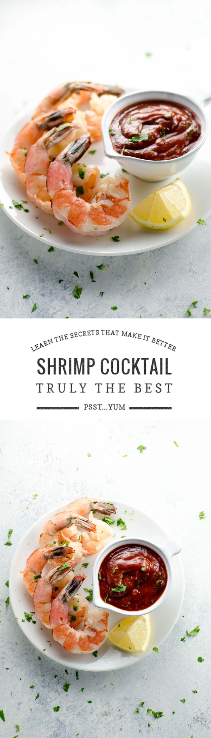 "I know it's ridiculous to say a recipe is ""the best,"" buuuuuutttttt this is seriously the best shrimp cocktail recipe ever. Everyone who tries it agrees."