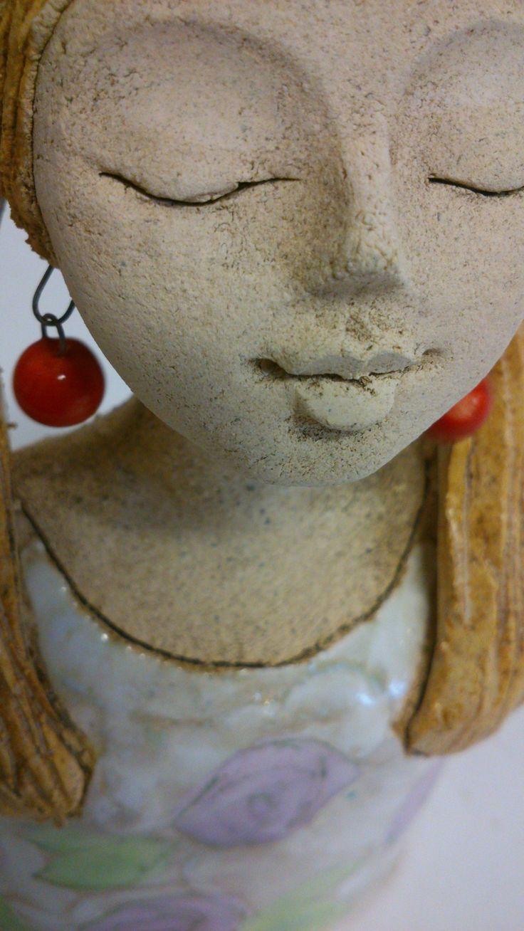 Hlavička culíky Bysta dívky 15 cm