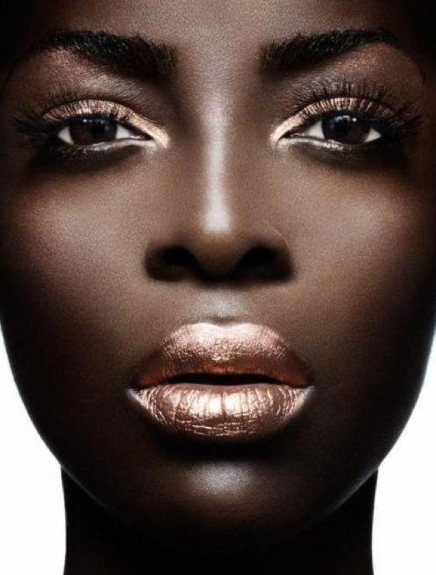Smooth Chocolate rose gold lip stick brown skin
