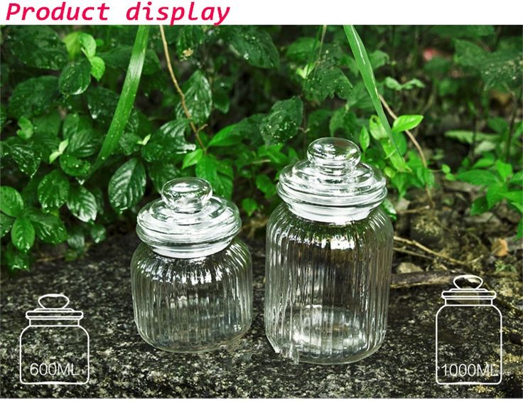 wholesale glass jars lids and Nuts storage and Candy glass jars