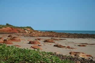 Broome beach: Broome is such a beautiful town with bright red soils and emerald blue waters.   On my last visit in 2007 i drove the Savannah Way from Cairns and i couldn't