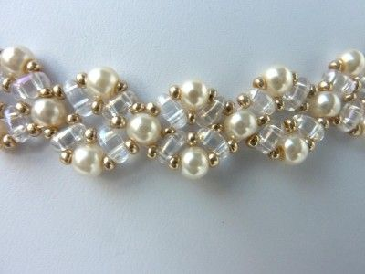 DIY Jewelry: FREE beading pattern for beautiful pearl necklace using 4mm pearls, twin beads, and 11/0 accent seed beads. Pattern includes earrings to match.