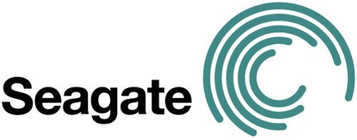 Seagate logo -- Seagate is a manufacturer of harddisks used in computers. The logo visualizes the tracks in which data is written and read on a harddrive.