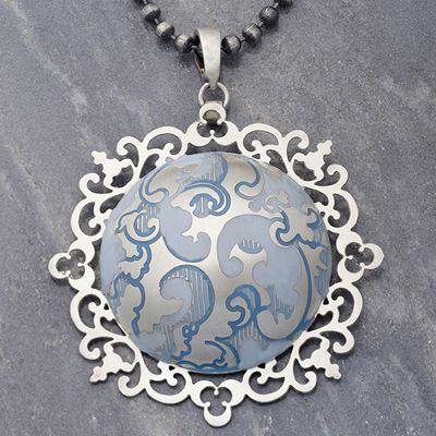 """Silver """"Baroque"""" Necklace"""