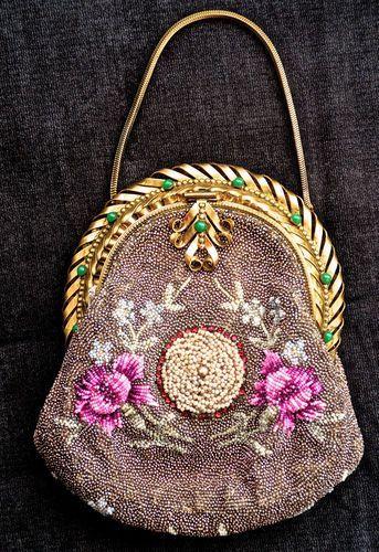 Pre-1901 (Victorian & Older) Color: beaded Vintage Type: True Vintage Material: Beaded Style: Evening Bag