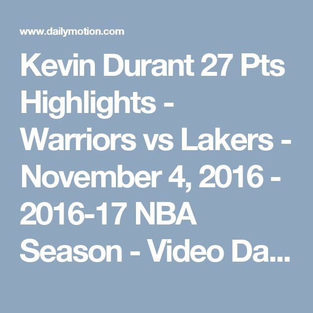 Kevin Durant 27 Pts Highlights