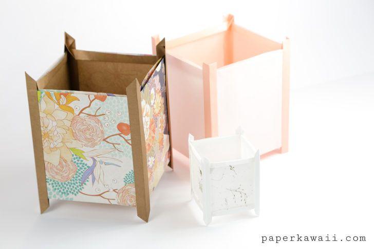 Origami Lantern Tutorial - Japanese Andon Lampshade