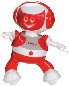 DiscoRobo Toy with Voice-Red Play your favorite song and watch how TOSY dances to the beat. It can feel the beat of the music and dances along to the beat.  http://awsomegadgetsandtoysforgirlsandboys.com/tosy-robotics-discorobo/ TOSY Robotics: DiscoRobo Toy with Voice-Red