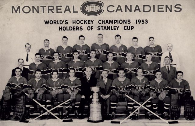 Montreal Canadiens 1952-53 Stanley Cup Champions