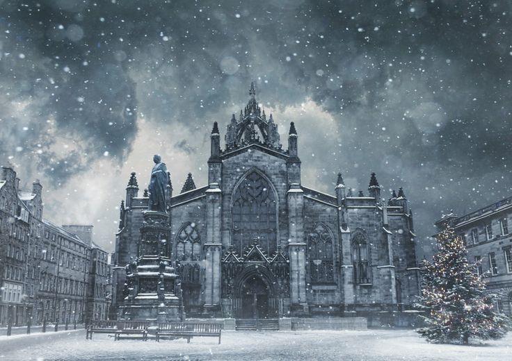 St Giles at Christmas by Scott Black- Scotland