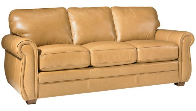 Palliser - Thompson - Leather Sofa - Jordan's Furniturein drizzle olive