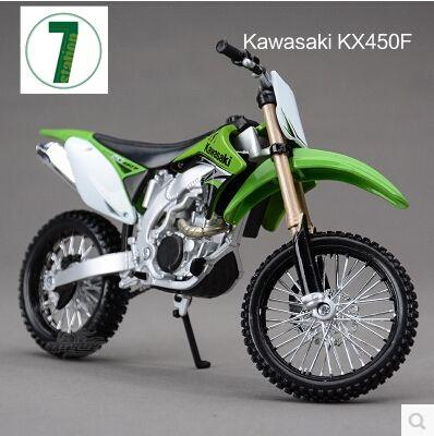 뜨거운 판매 가와사키 kx 450f maisto 1:12 오토바이 모델 아이 장난감 크로스 컬렉션 녹색 산악 자전거 선물 소년 ktm kx450f