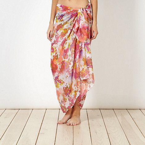 Reger by Janet Reger Designer pink digital floral sarong- at Debenhams.com
