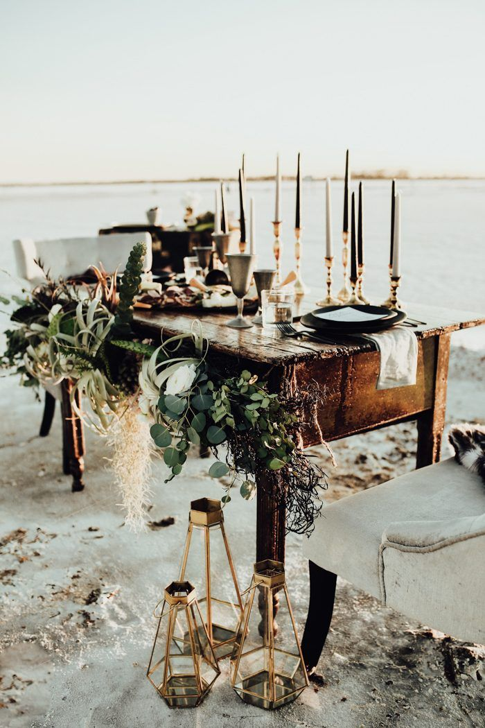 Edgy High-Fashion Wedding Inspiration at Great Salt Plains State Park