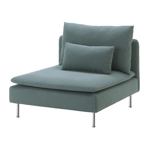 IKEA - SÖDERHAMN, One-seat section, Finnsta turquoise, , Durable microfiber which is soft and smooth.SÖDERHAMN seating series allows you to sit deeply, low and softly with the loose back cushions for extra support.The cover is easy to keep clean as it is removable and can be machine washed.The various sections of the seating series can be connected together in different combinations or used separately.You can sit in comfort with a slight, pleasant resilience thanks to the elastic weave in…