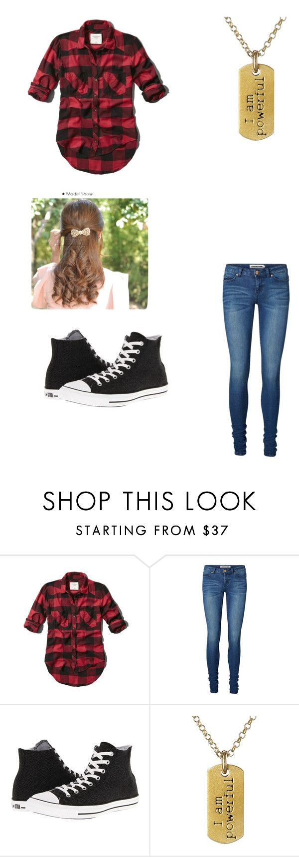 """""""bajan canadian :P"""" by taylorluvsyou ❤ liked on Polyvore featuring Abercrombie & Fitch, Vero Moda, Converse and Dogeared"""