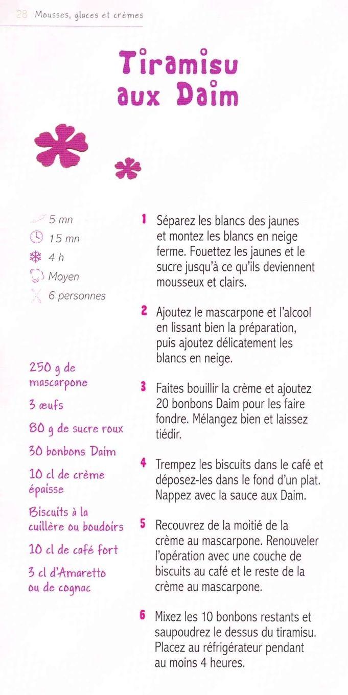Tiramisu aux daim