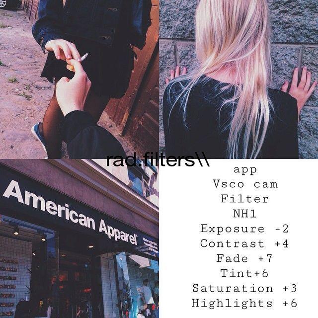 VSCOcam filters on Pinterest | App, Instagram and Medium
