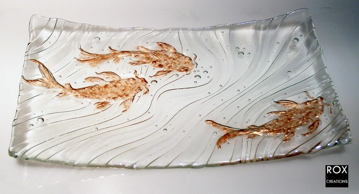 17 best images about glass projects bottle slumping for Koi fish mold