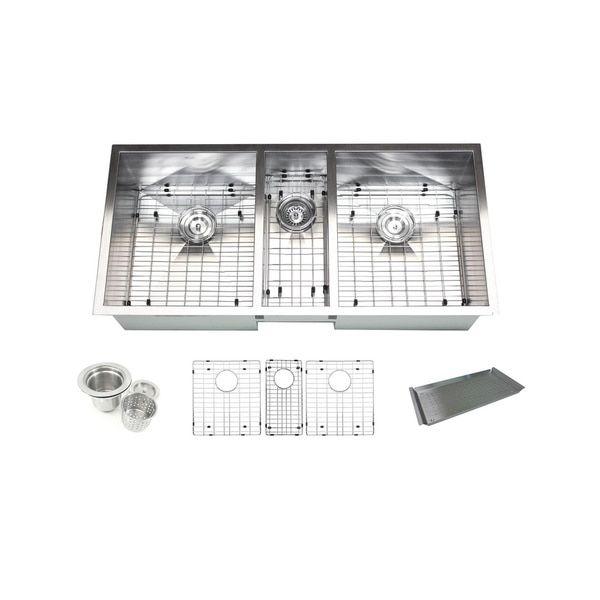 Triple Bowl 42 Inch Stainless Steel Undermount Zero Radius Kitchen Sink (16  Gauge Combo) | Kitchen Sink | Pinterest | Sinks And Kitchens