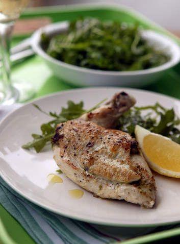 Super-quick dinner: Pesto chicken.