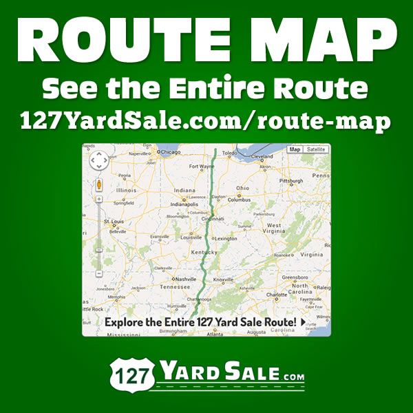View the complete 127 Yard Sale route using our interactive Google map.