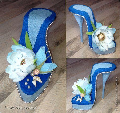 Свит-дизайн 8 марта День рождения Моделирование конструирование Новая коллекция туфелек   Бумага гофрированная фото 8