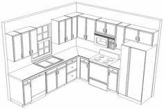 Best L-shaped Kitchen Layouts | 10 x 10 3D Sample Kitchen Layout More