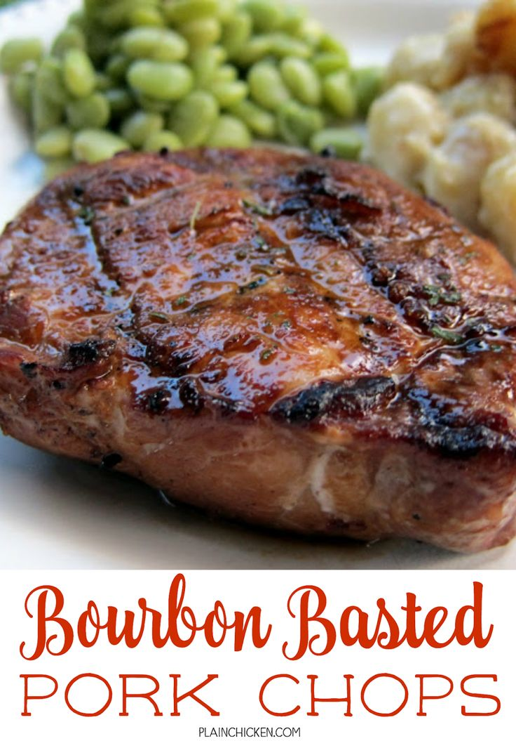 Pork Chops - pork chops basted in a quick homemade bourbon sauce ...