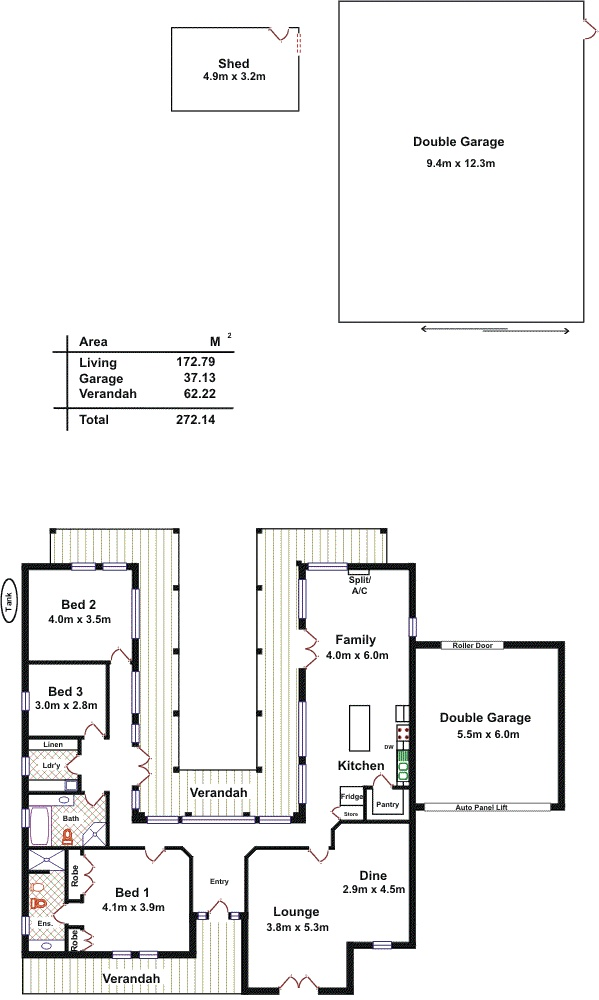 Charming Floorplan   U Shape + Entrance