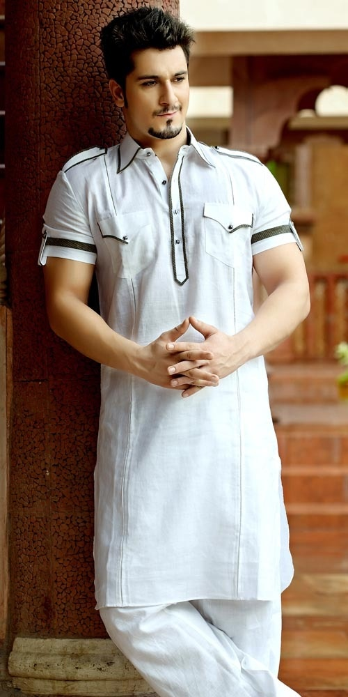 Dashing Look White Pathani Suit