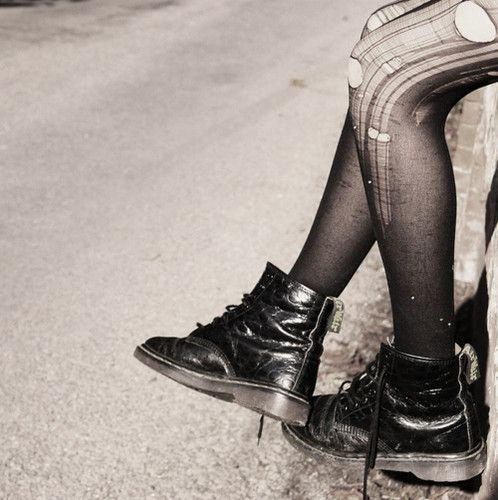 """Doc Martens- my first """"love at first sight"""" shoes....and I still have them."""