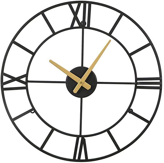 Amazon Com Large Wall Clocks Big Oversized 18 Inches Square